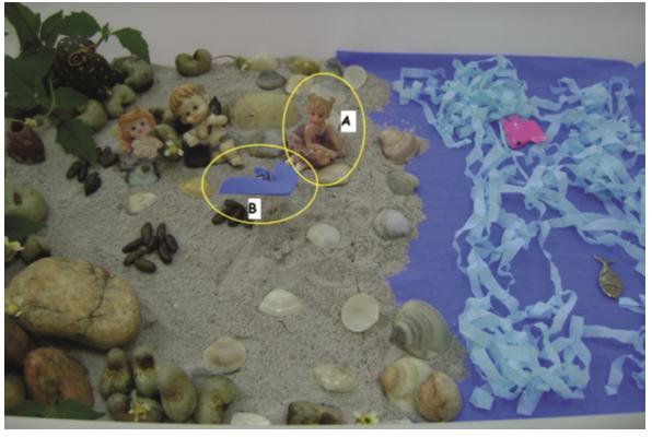 Figura 5: Escenario intitulado 'Vida nueva, nuevos aires'. En (A), simbolización de la apertura para nuevas investigaciones. En (B), simbolización de encuentro con el colibrí
